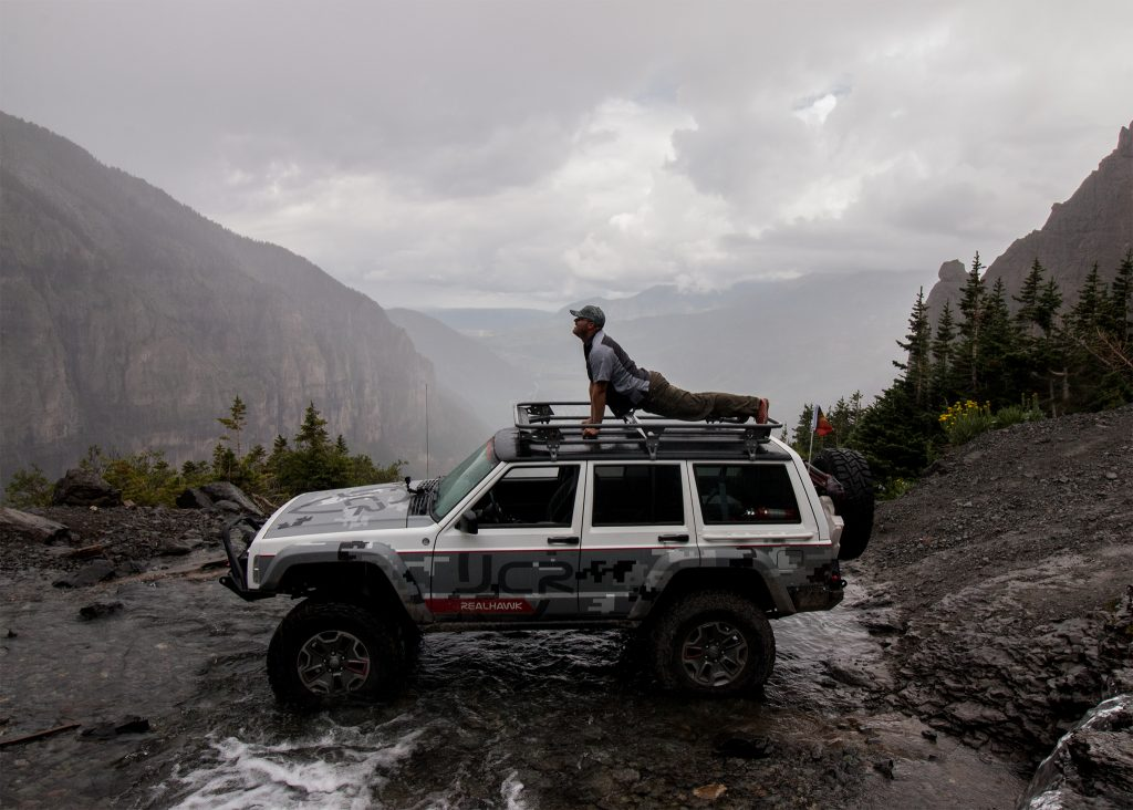 Jeep Yoga on Black Bear Pass