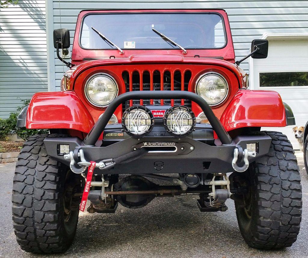 wrangler front bumper crusader mid width jeep tj lj yj cj7 (76 06) Original Front Bumper Jeep Scrambler