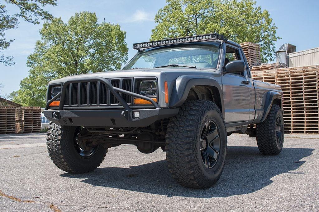 jeep cherokee front prerunner bumper defender jeep xj 84 01 Jeep ZJ PreRunner jcroffroad 9350 shaver road portage mi 49024