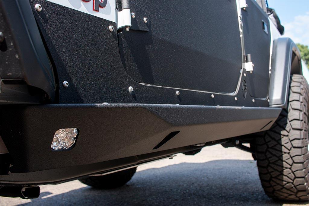 Metal Jeep Fenders >> JLU Rock Sliders | Crusader | 4 Door Jeep Wrangler (2018+) - JcrOffroad