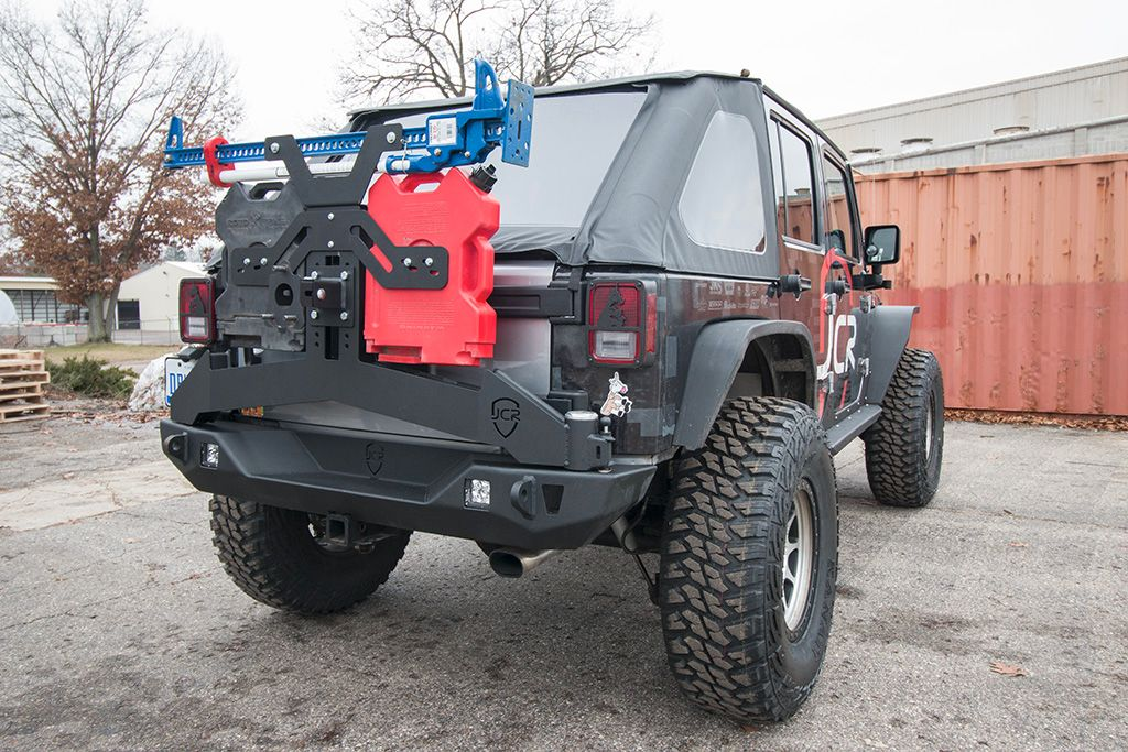 Offroad Rear Bumper with Tire Carrier for 07-17 Jeep Wrangler JK