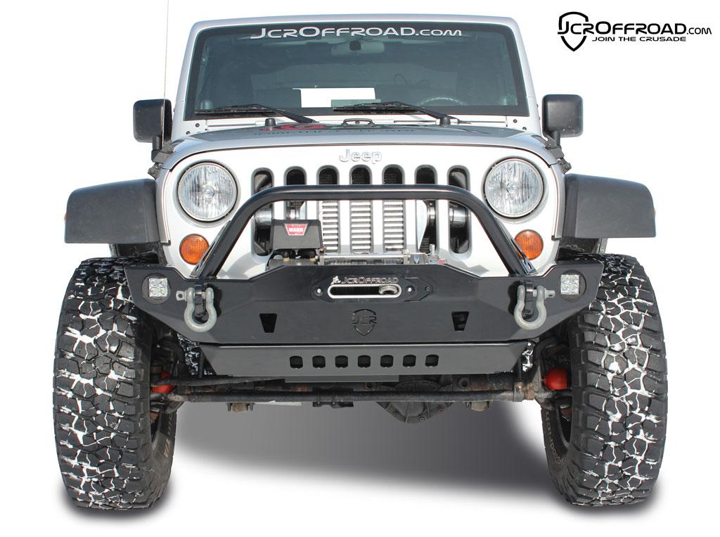 jk front bumper crusader jeep wrangler 07 18 jcroffroad. Black Bedroom Furniture Sets. Home Design Ideas