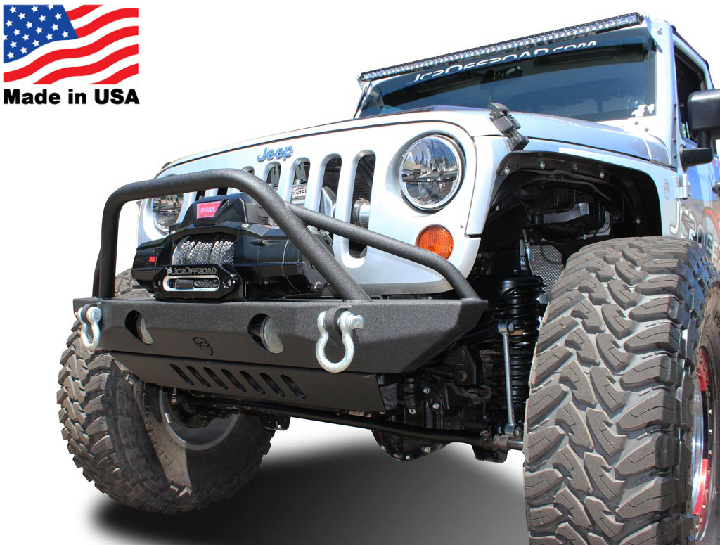 on wrangler jeep aluminum coated products bumper bumpers installed powder jl a front fbb shown black stubby