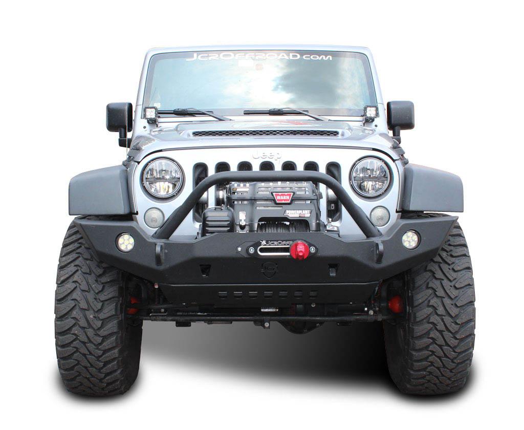 jk front bumper vanguard full width jeep wrangler 07 17 jcroffroad. Black Bedroom Furniture Sets. Home Design Ideas