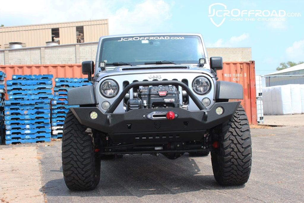 JK Front Bumper | Vanguard Full Width | Jeep Wrangler (07 18)   JcrOffroad