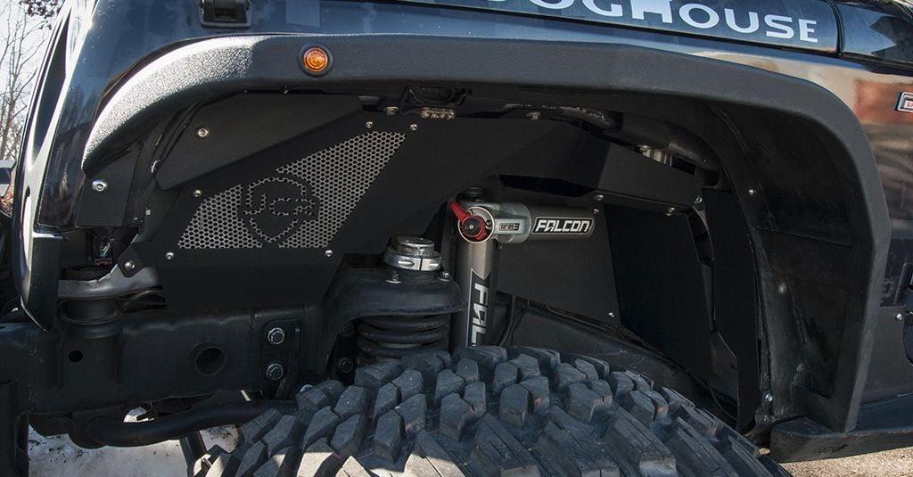 Jeep Cj Parts >> JcrOffroad: JK Falcon Shocks Inner Fender Kit | Front ...