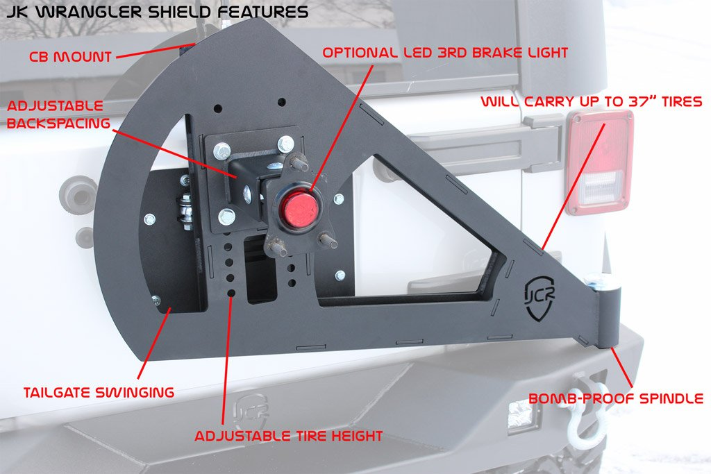 JcrOffroad JK Shield Tire Carrier