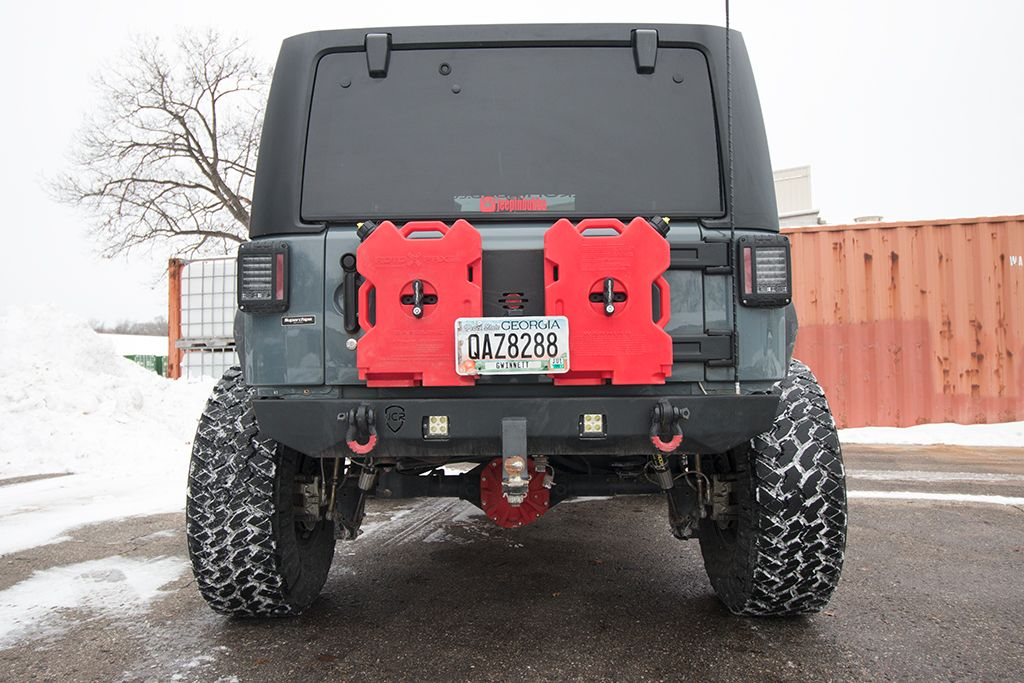 Jeep Gas Can Holder Rotopax Trailgate Plate Jeep