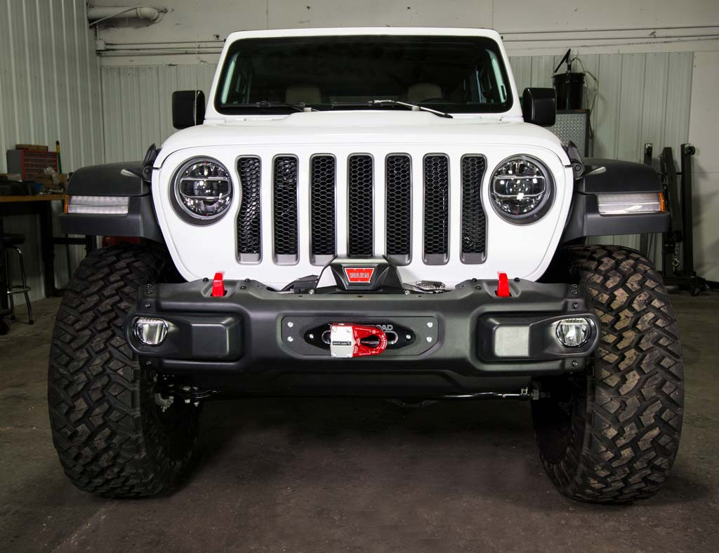 Winch For Jeep >> Jcroffroad Jl Wrangler Steel Bumper Winch Plate 2018 Jeep