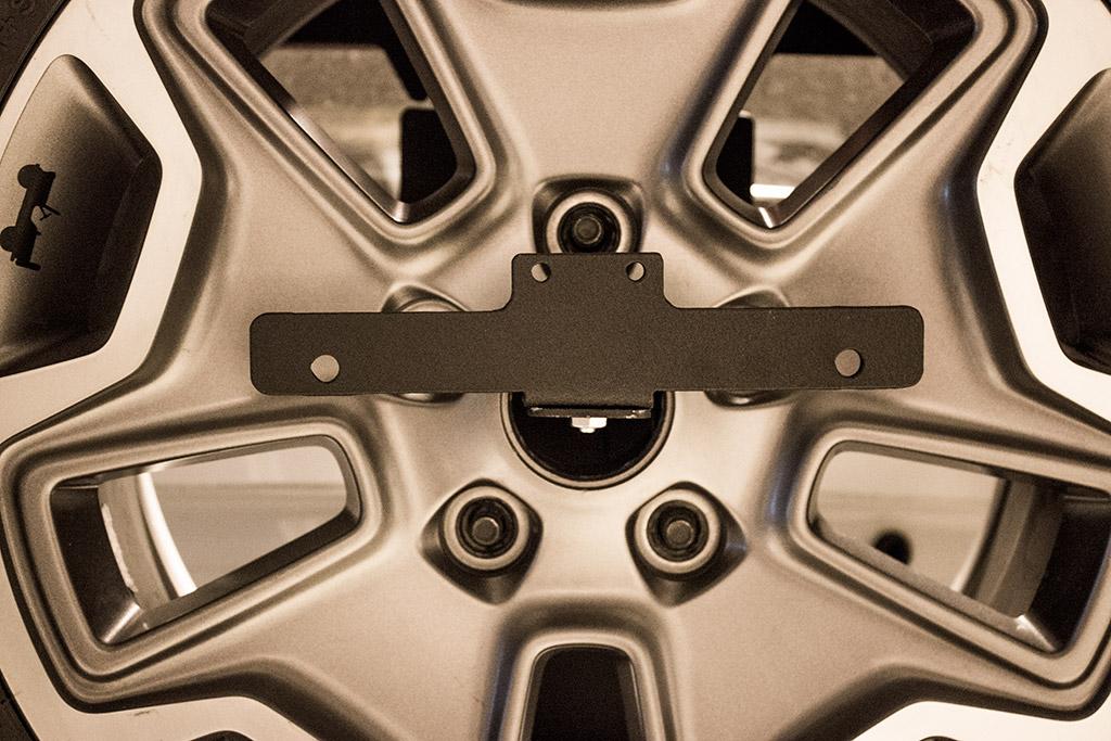 Jcroffroad Jeep License Plate Relocation Spare Tire Mount