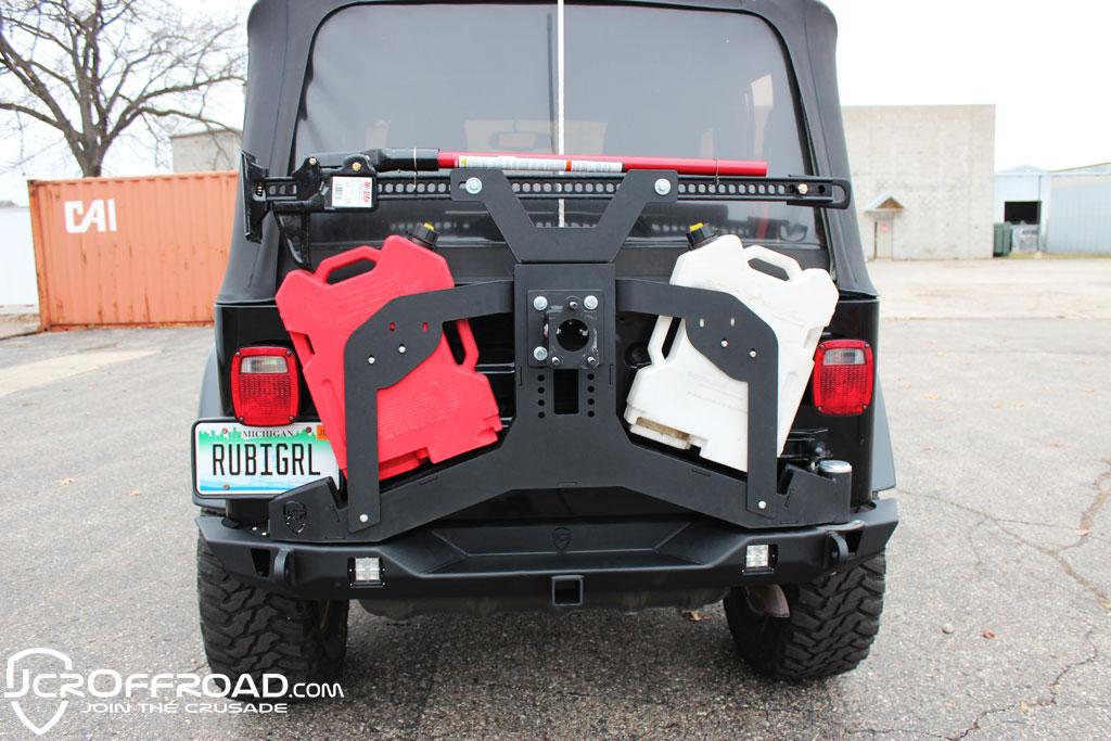 jcroffroad jeep tire carrier adventure bumper mount. Black Bedroom Furniture Sets. Home Design Ideas