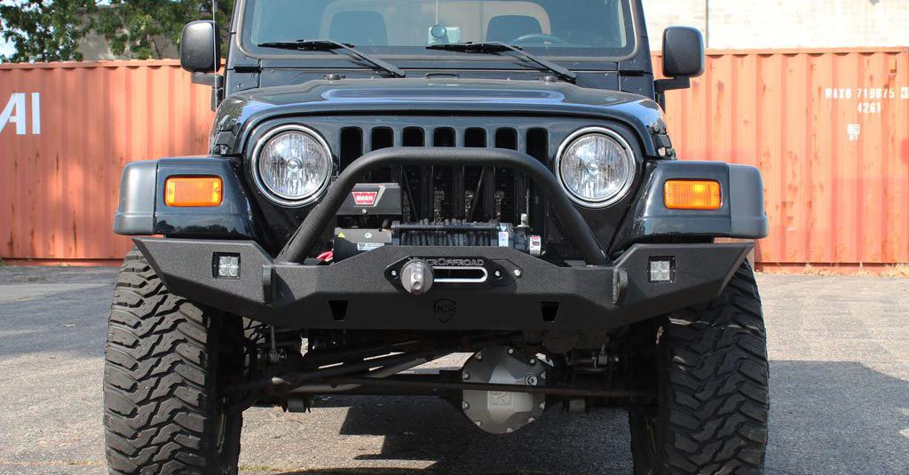 Wrangler Front Bumper | Vanguard Full-Width | Jeep TJ/LJ ...