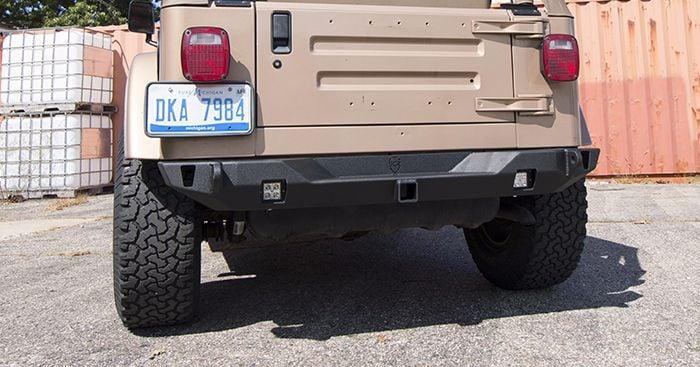 wrangler rear bumper crusader mid width jeep tj lj yj cj   jcroffroad