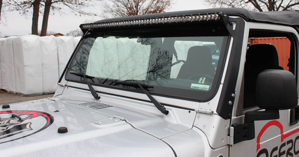 Wrangler light bar mounts 50 windshield jeep tj lj 97 06 wrangler light bar mounts 50 windshield jeep tj lj 97 06 jcroffroad aloadofball Images