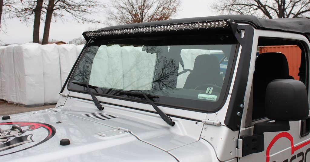Wrangler Light Bar Mounts 50 Quot Windshield Jeep Tj Lj