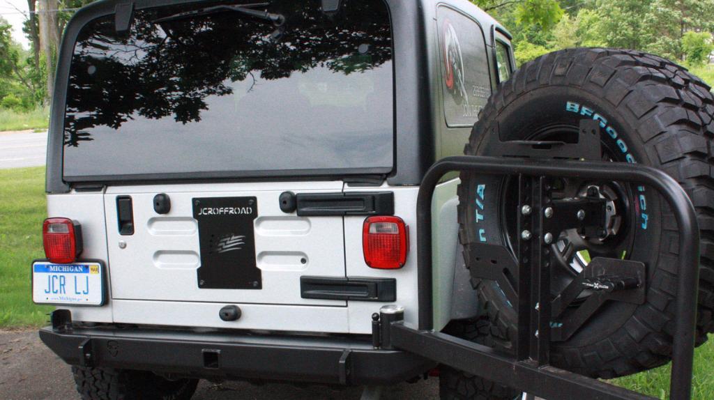 Jcroffroad Tailgate Cover Plate Tj Wrangler