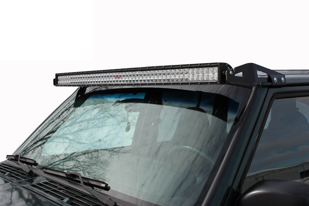 jeep cherokee light bar low profile 50 led mount jeep xj 84 01. Black Bedroom Furniture Sets. Home Design Ideas