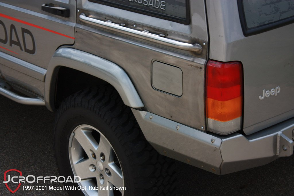 Jcroffroad Xj Upper Quarter Panel Armor Rub Rail Jeep