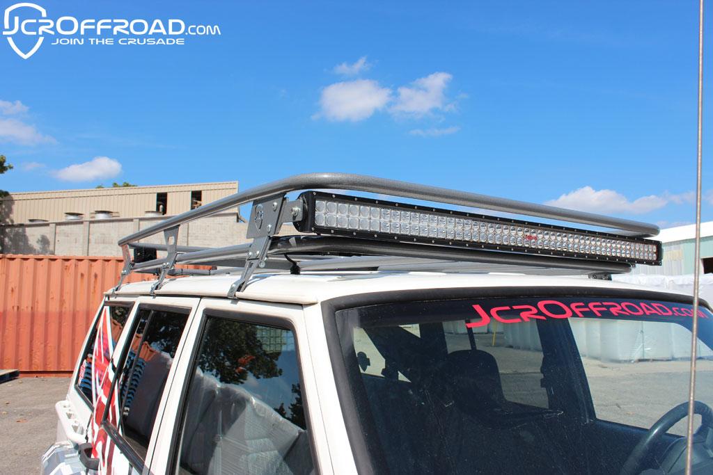 Jcroffroad xj rack 50 led light bar mounts jeep cherokee xj 84 pssst mozeypictures Gallery